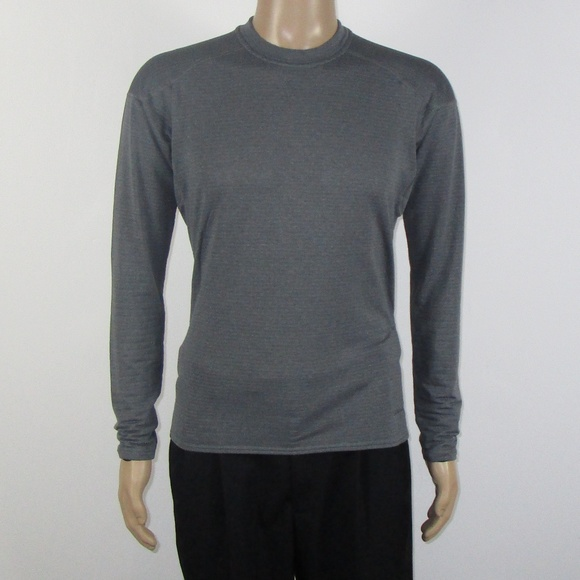 Patagonia - Patagonia Light Gray Poly Blend Long Sleeve Shirt from ...